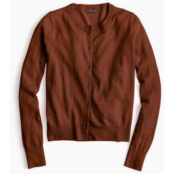 J.Crew Lightweight Wool Jackie Cardigan Sweater (175 BRL) ❤ liked ...