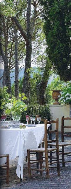 La Pouyette....: Alfresco Dining- @};--'-- ~LadyLuxury~