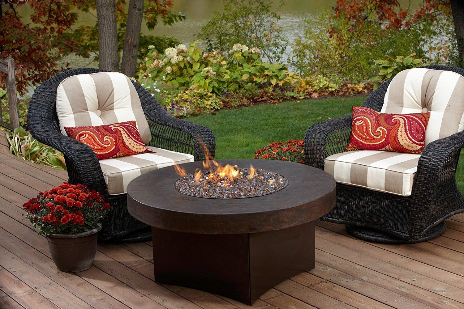 Oriflamme savanna gas outdoor fire pit table