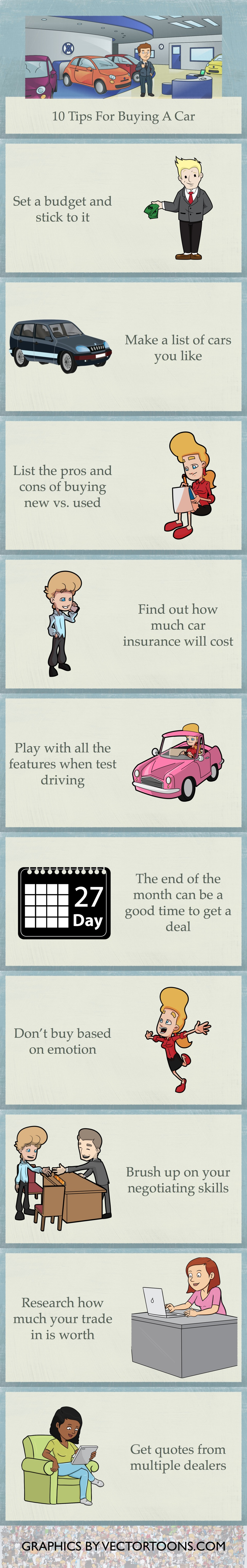 10 10 tips for car buying - Infographic 10 Tips For Buying A Car