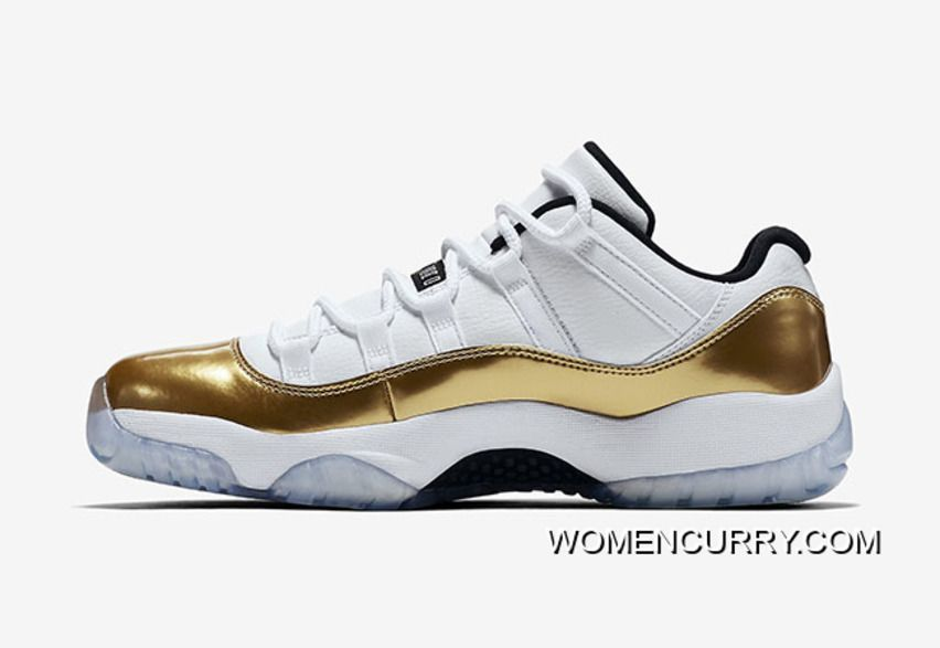 CLOSING CEREMONY  AIR JORDAN 11 LOW WHITE METALLIC GOLD COIN-BLACK FREE  SHIPPING Only  88.37  c8b5d26be9e4