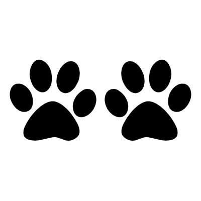 Dog paw prints silhouette illustration animal background Clipart ...