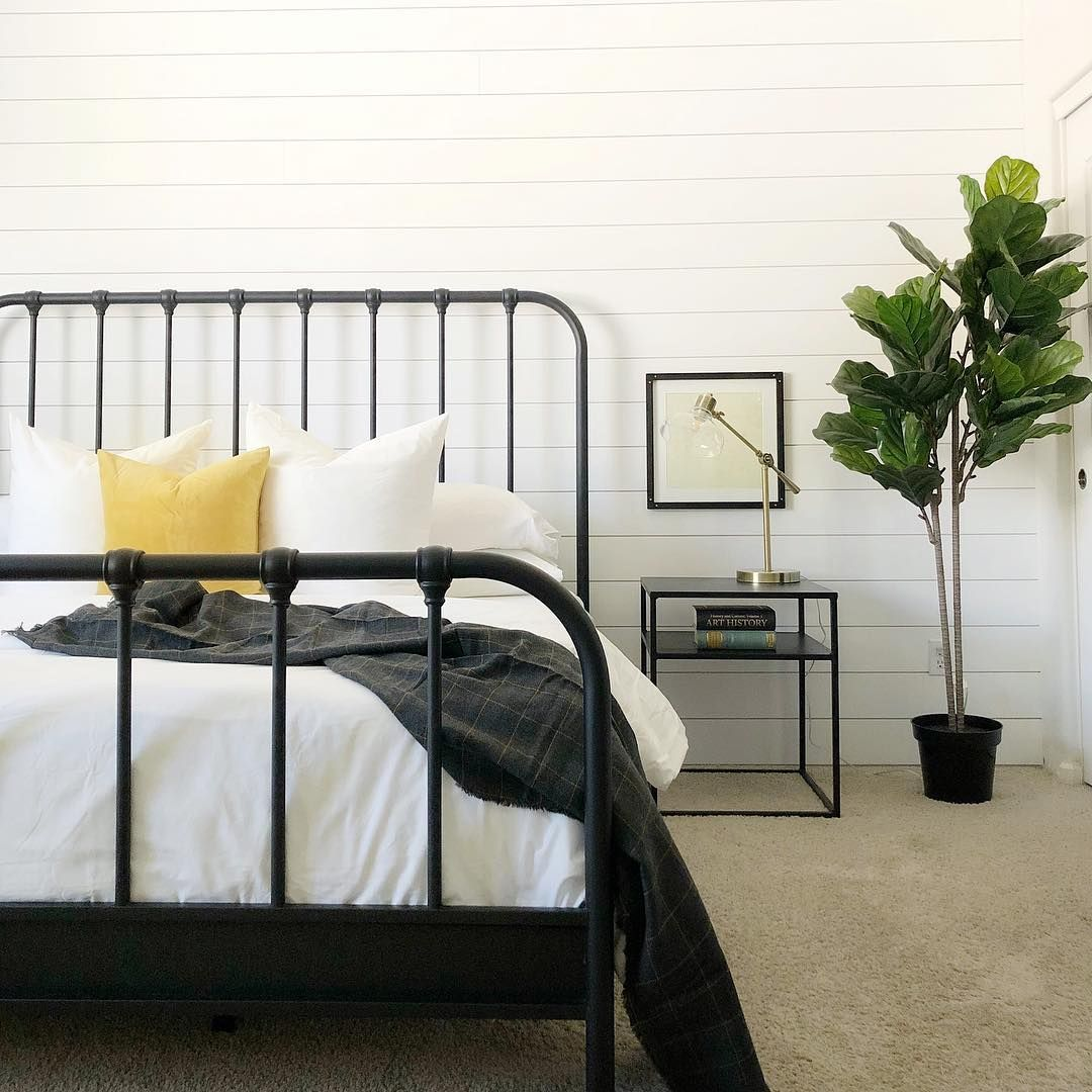 Knox Queen Metal Panel Bed Black Metal Bed Frame Panel Bed