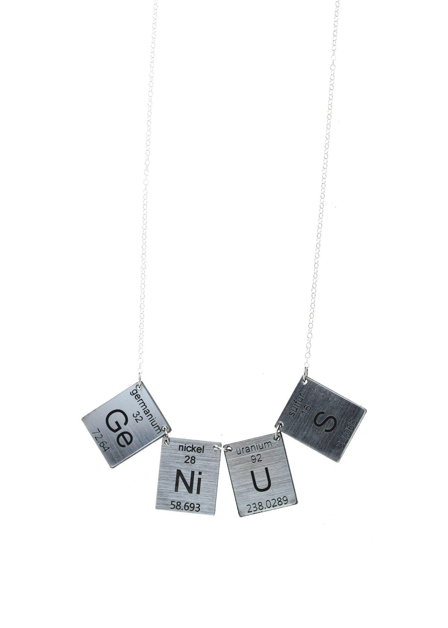 Genius Elements Necklace in Silver/Black
