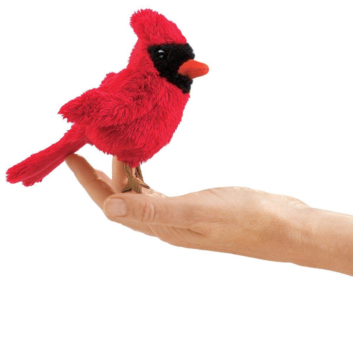 Folkmanis Mini Cardinal Finger Puppet