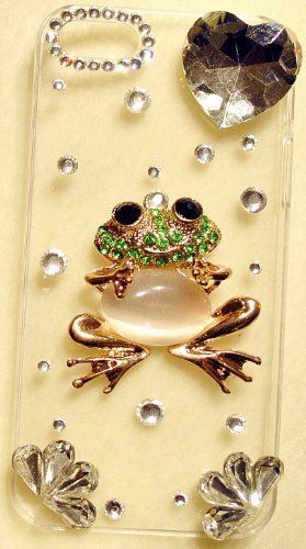 iPhashon 3D Green Smiling Frog Clear Case for iPhone 4S & 4 Verizon Sprint AT High Quality Bling Crystals by iPhashon, http://www.amazon.com/dp/B0089XLI74/ref=cm_sw_r_pi_dp_aFCcsb1HM7YCS