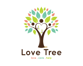 love Care Help Tree Logo design - This logo is great for family ...