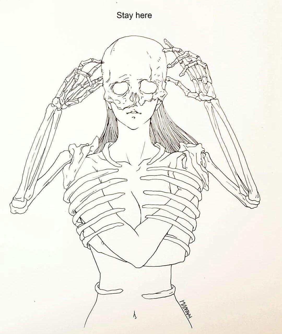 Shin Haenuli Https Www Instagram Com Haenulishop With Images Skeleton Art Illustration Art Art