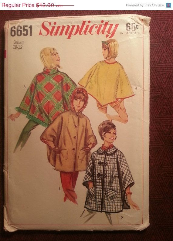 Uncut 1960's Simplicity Sewing Pattern 6651 1012 by EarthToMarrs