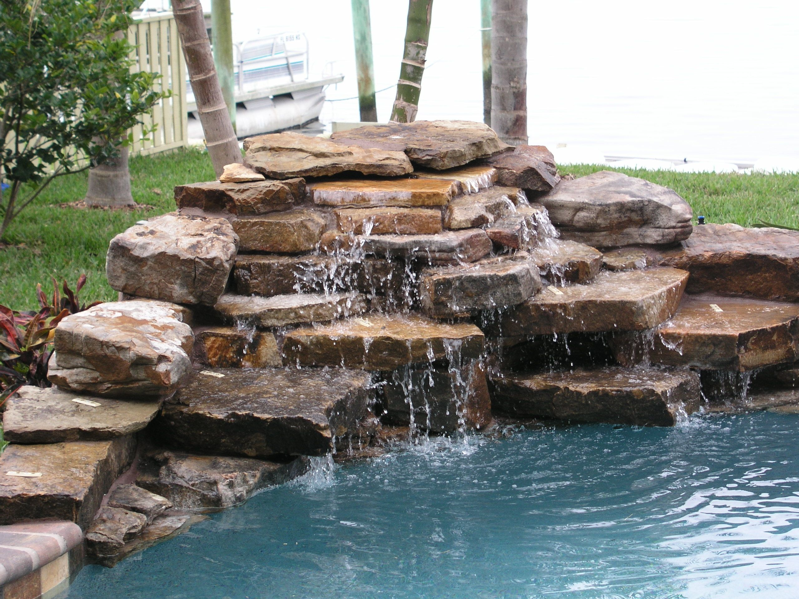 Rock Water Fountains Waterfalls Wow Pinterest Water Fountains Fountain And Pool Waterfall
