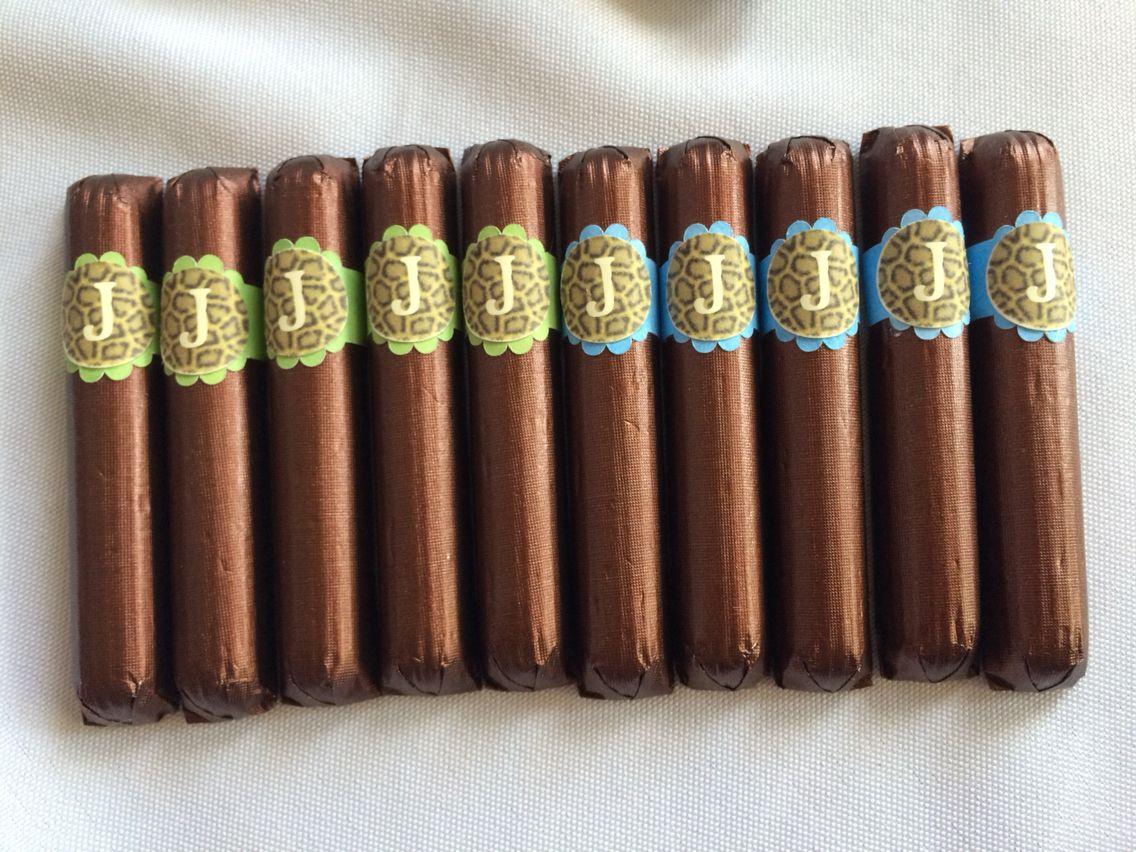 custom #belgian #chocolate #cigar #favors for your #babyshower ...