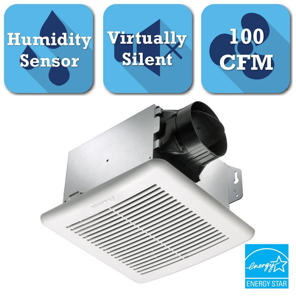 Greenbuilder Series 100 Cfm Ceiling Bathroom Exhaust Bath Fan With Capacitor Wiring Diagram Further Nutone Delta Breez Adjustable Humidity Sensor Gbr100h The Home Depot