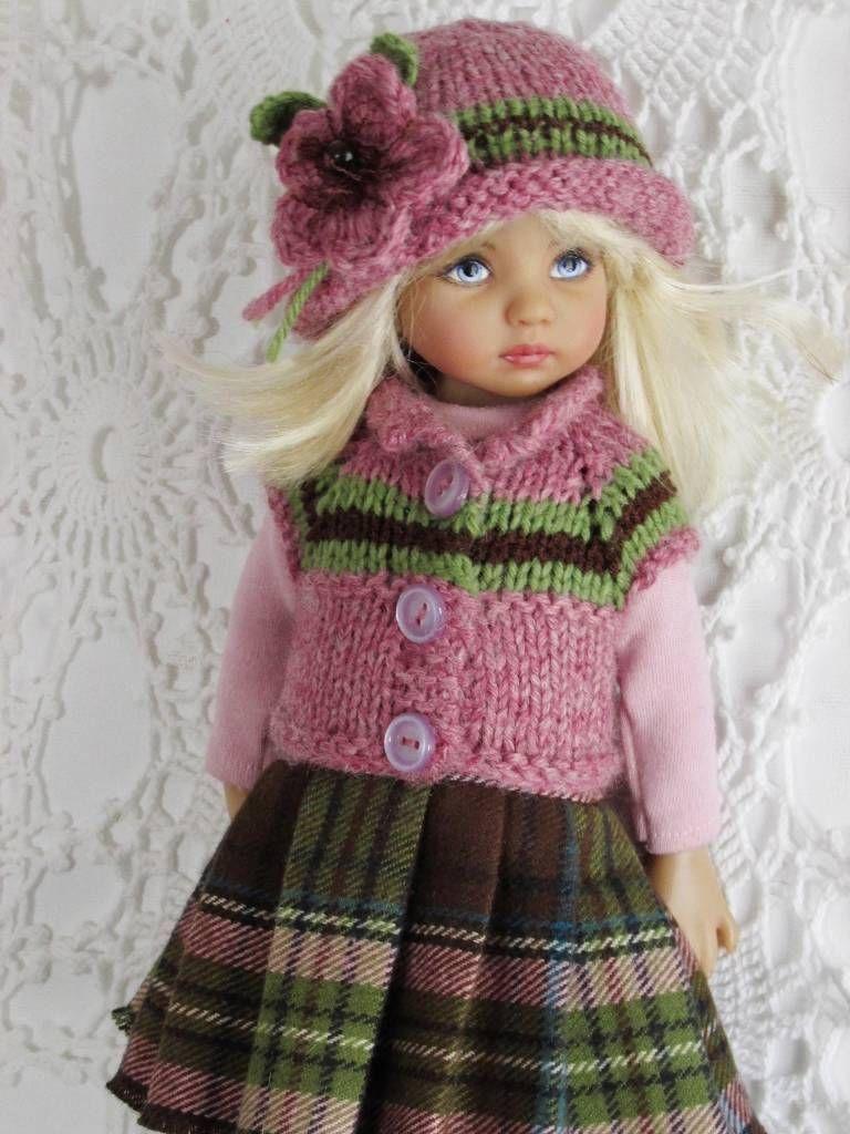 Pink sweater dress outfit  Sweater Dress Leotard Boots Set Made for Effner Little Darling Same