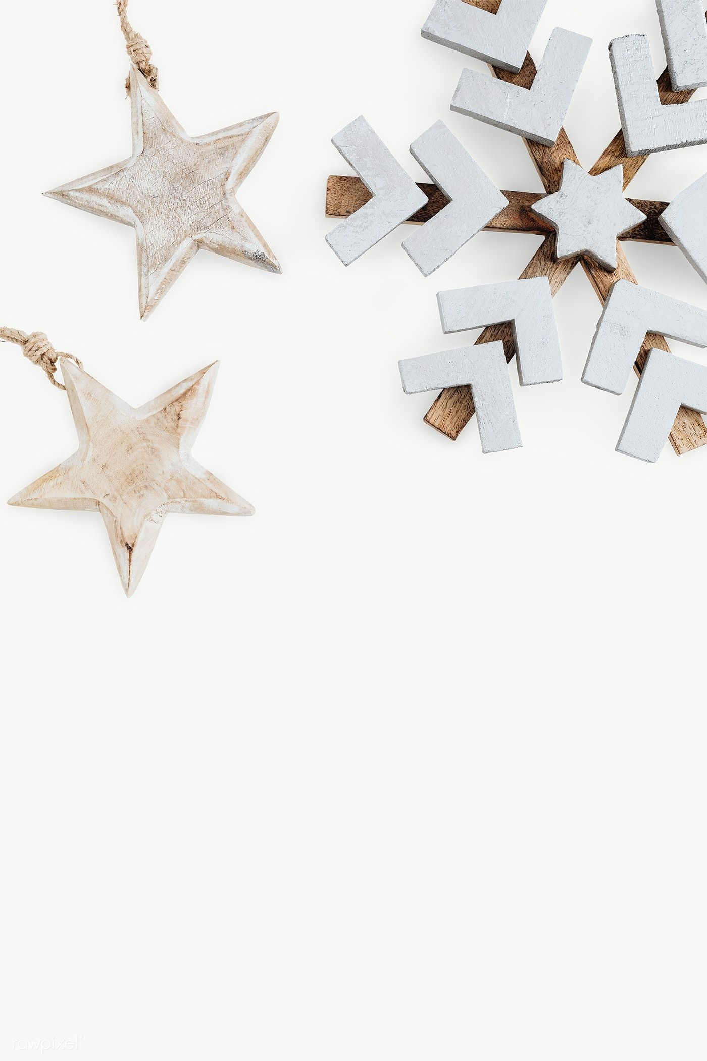 Download Premium Png Of Wooden Snowflake And Stars Background Transparent Wooden Snowflakes Snowflake Background Christmas Ornament Frame