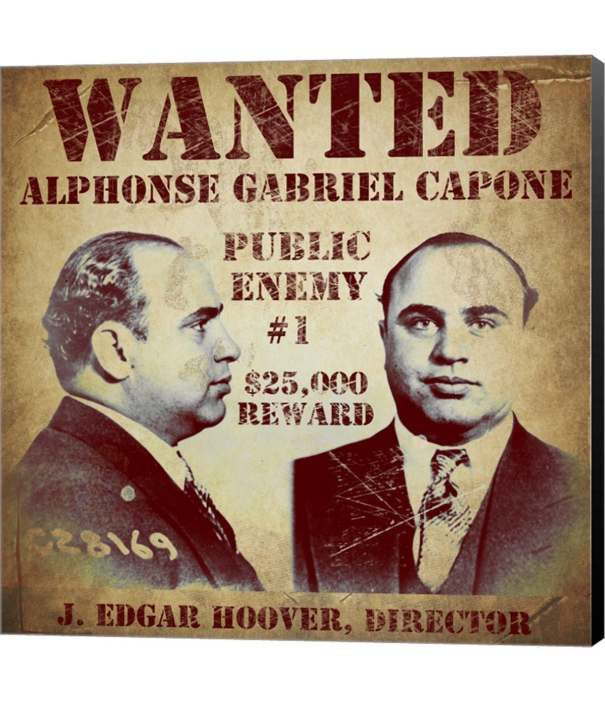 Al Capone Wanted Poster By Vintage Apple Collection Canvas Art Multi Al Capone Vintage Apple Posters Art Prints