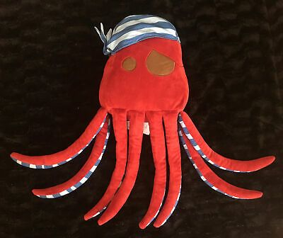 Details about Circo Pirate Red Octopus Adventures Plush Stuffed Animal Pillow Nautical Decor