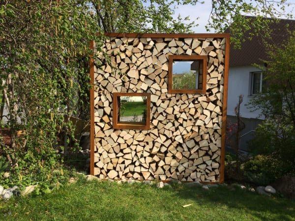 eisengestell f r sichtschutz brennholz in schaenis kaufen. Black Bedroom Furniture Sets. Home Design Ideas