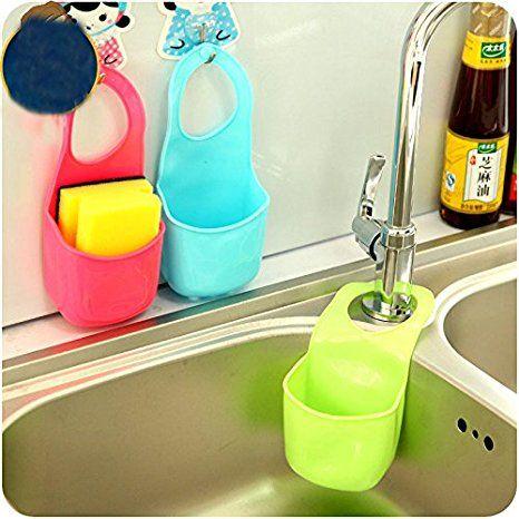 Eqlef 2 Pcs Schwamm Storage Box Rack Korb Wasche Tuch Toilettenseife Regal Organizer Kuche Badez Plastikflaschen Bastelarbeiten Seifenschale Zahnburstenhalter