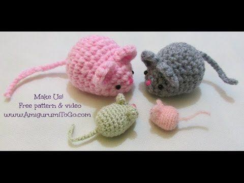 Crochet Along Amigurumi Mouse Youtube Muis Haken Knutsels Breien