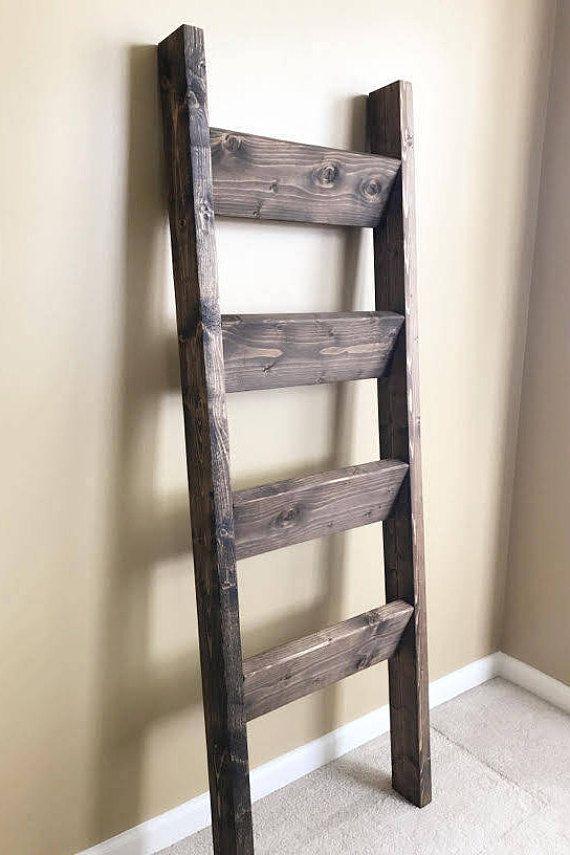 Blanket Ladder Rustic Ladder Shelf Wood Blanket Ladder
