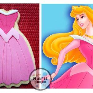Princesas Galleta vestido la bella durmiente