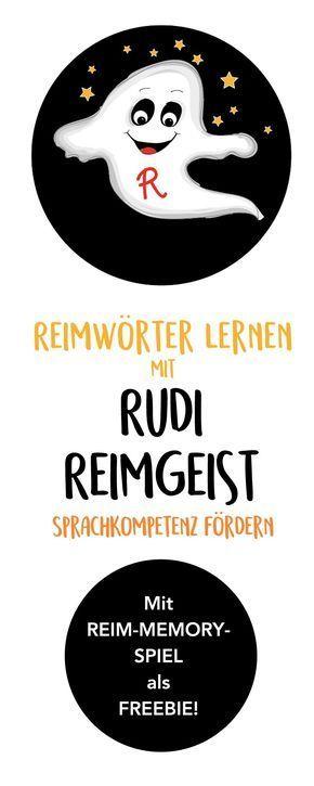 Reimwörter lernen mit Rudi Reimgeist (Lerngeschichte & Printable) • Hallo liebe Wolke