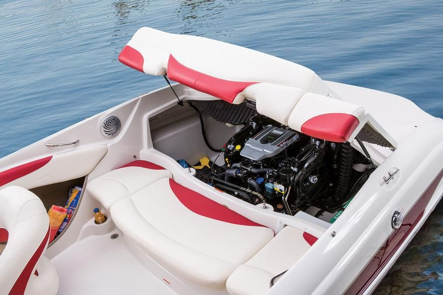 Sound insulated engine compartment w/side storage