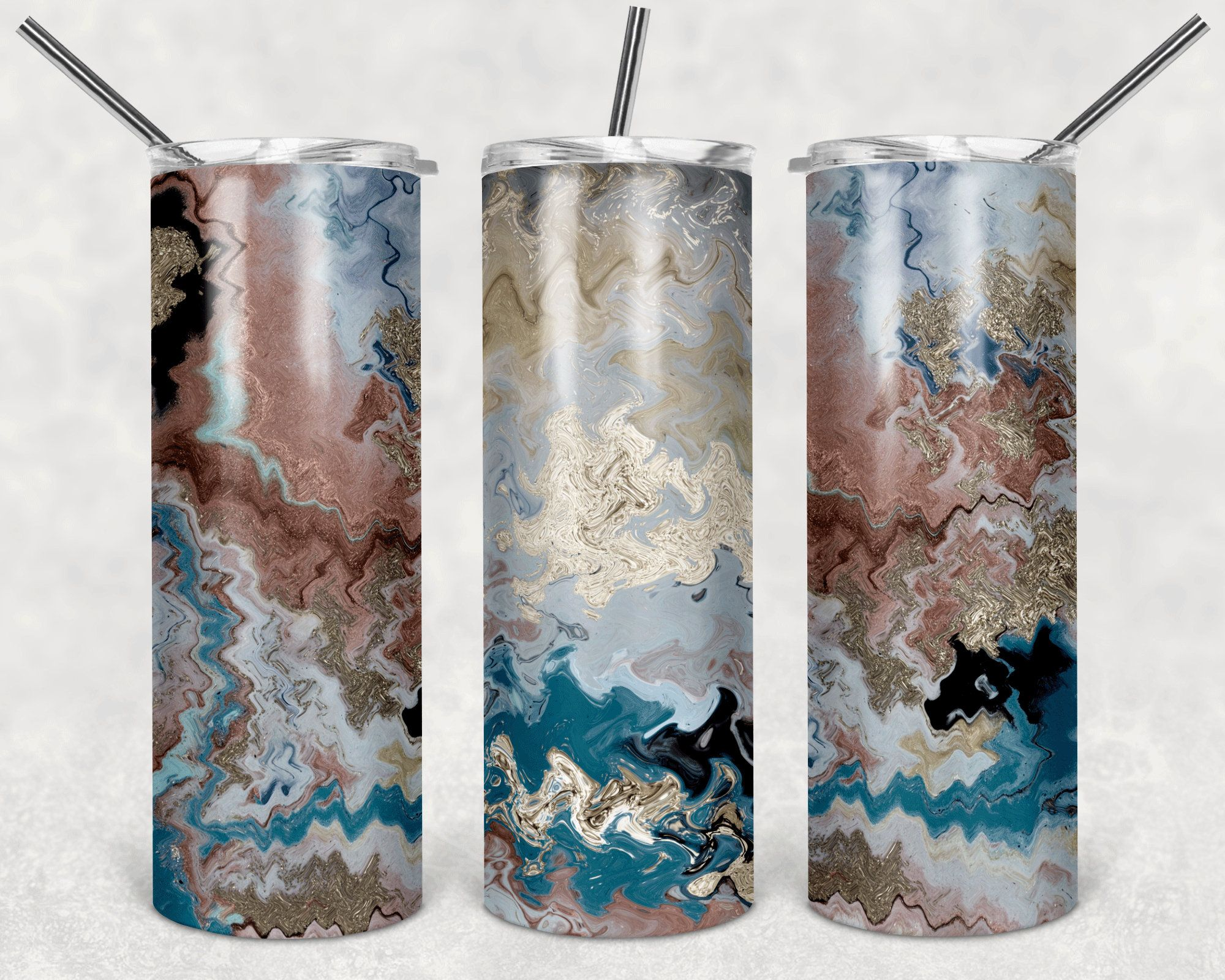 Straight and Tapered 2020 PNG Design Wrap Sublimation Bright Tie Dyed 20oz Skinny Tumbler Waterslide Digital Template