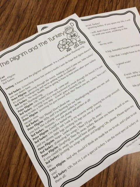 Reader's Theater Scripts: Thanksgiving Partner Plays! *Reader's Theater Freebie!