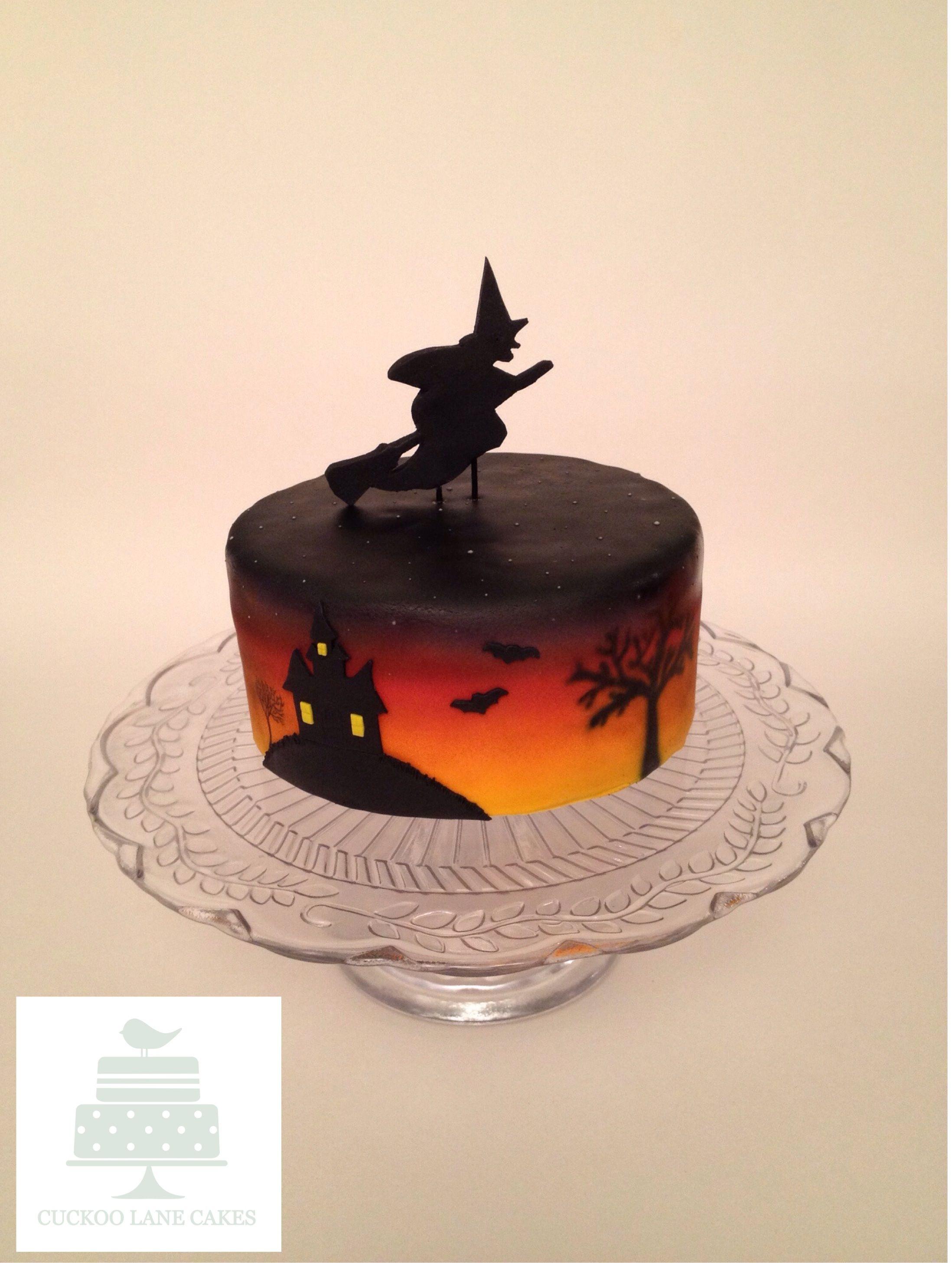 Airbrushed Halloween Cake Halloween cakes, Lane cake, Cake