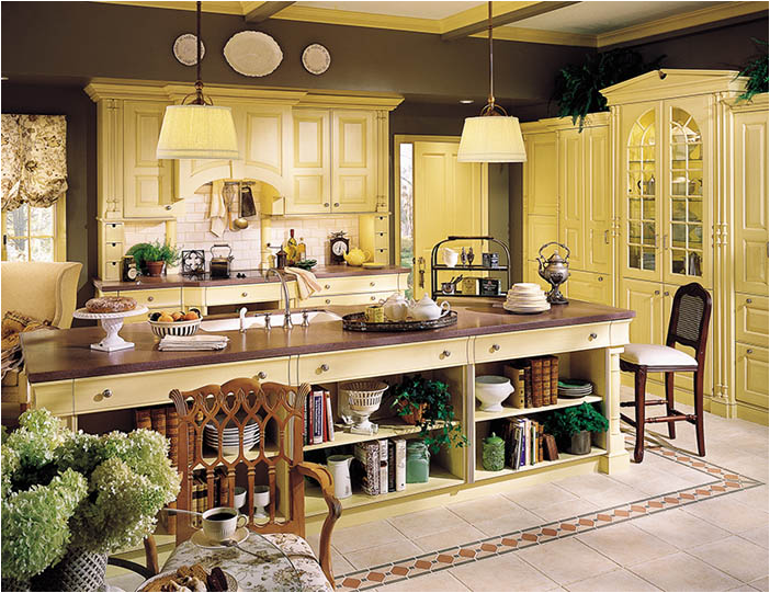 Loden Spring Green Brown & Beige English Country Kitchen Ideas Magnificent Kitchen Design Country Style Decorating Design