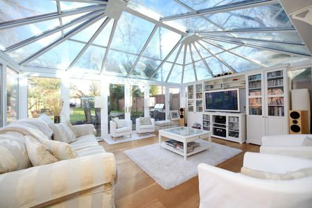 Conservatory glass roof house pinterest glass roof for Glass rooms conservatories