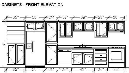 Dimensioning Cabinets In A Wall Elevation Dimensions In 2019 One