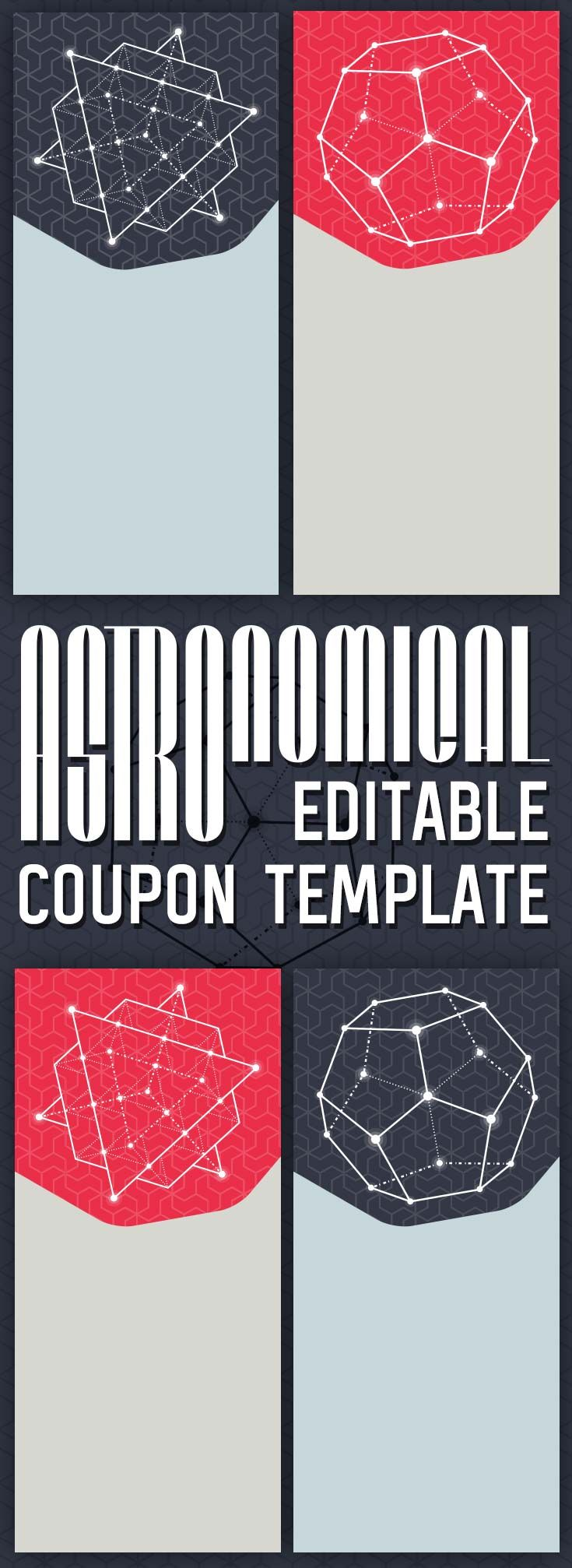 Space Themed Free Printable Astronomical Editable Coupon Template