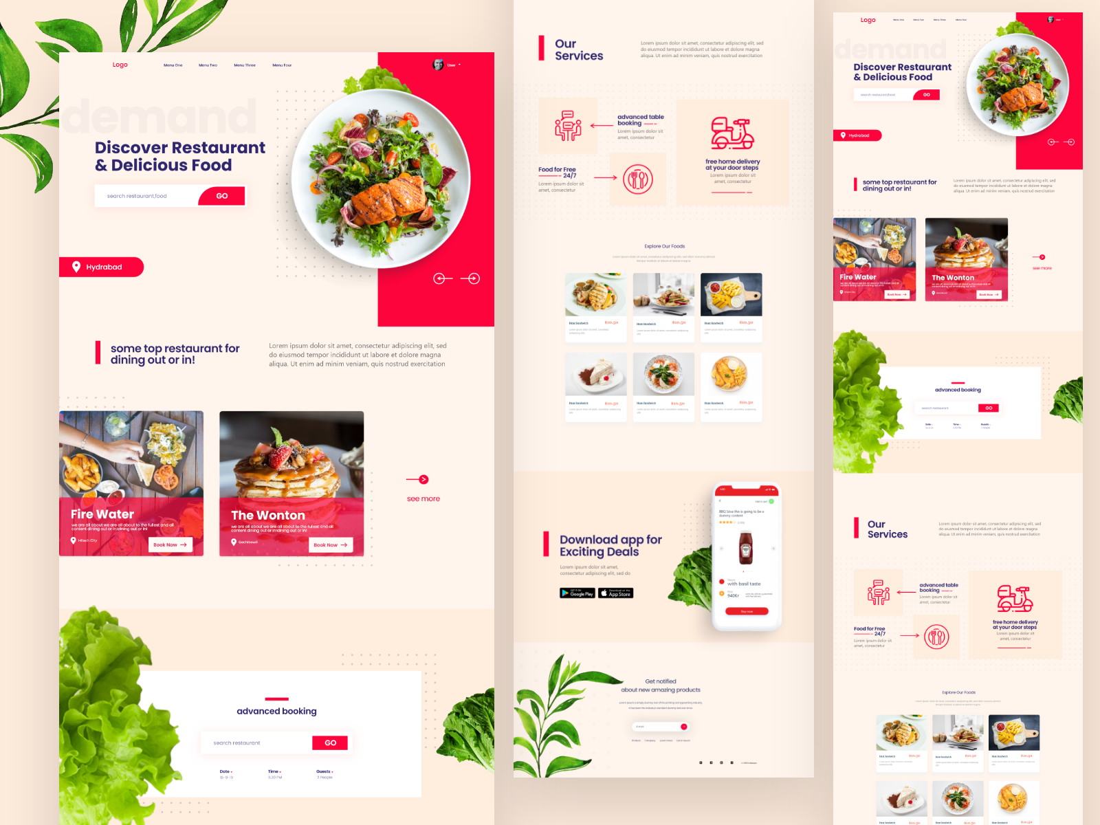 Food Delivery Landing Page Exploration In 2020 Landing Page Design Food Delivery Website Food Delivery