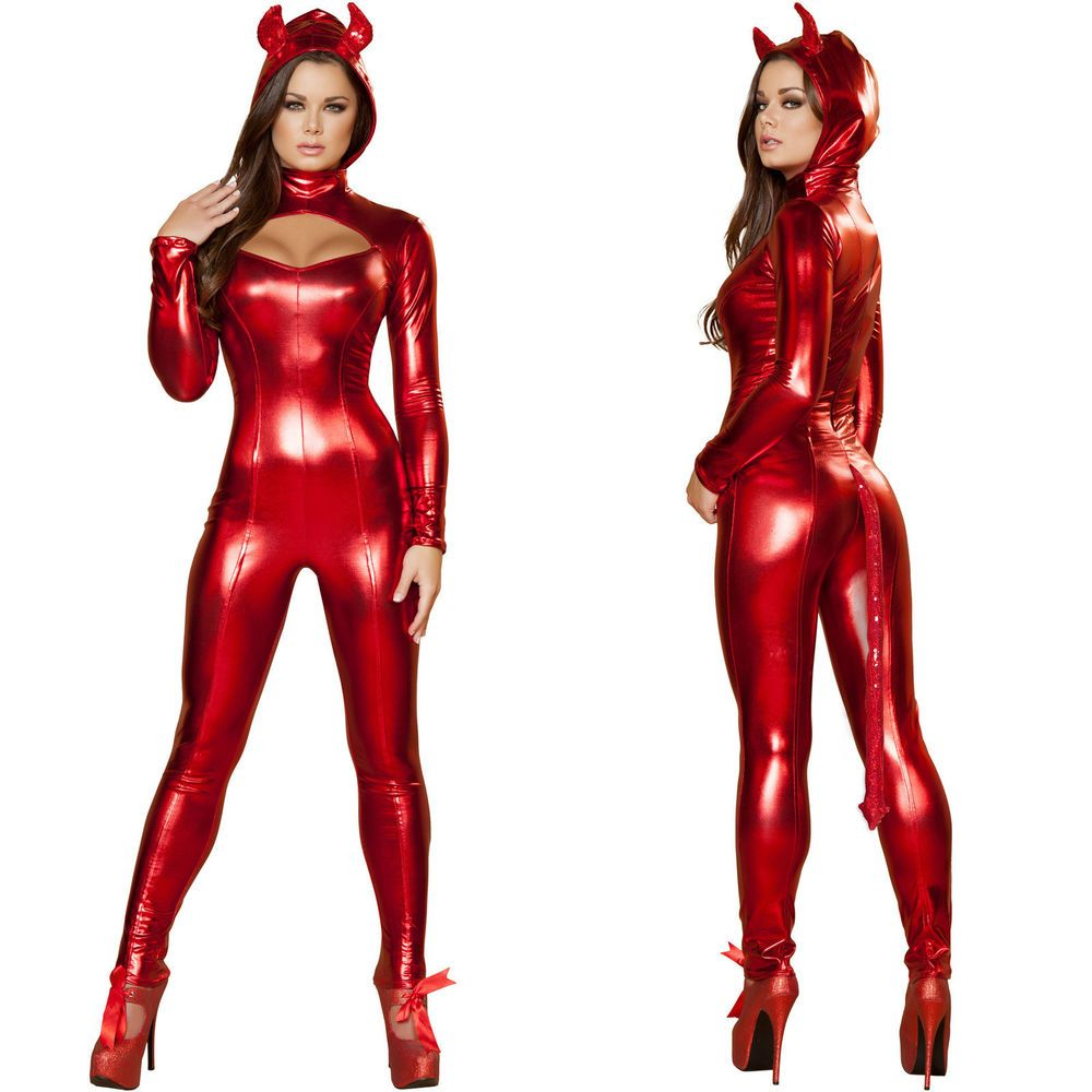 Womens nude woman devil costumes and girls