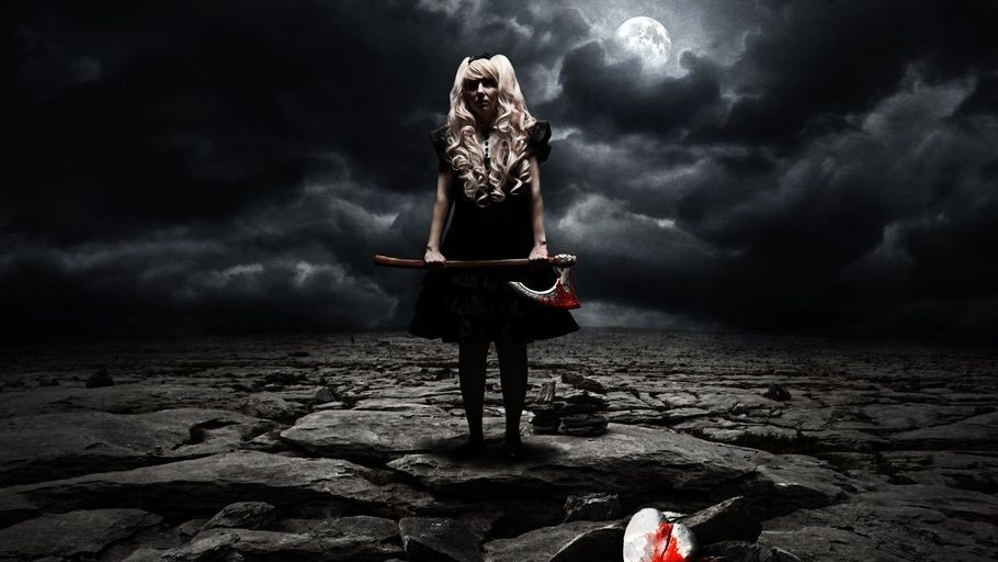 Broken Hearts Horror Girl With An Ax Halloween Heart