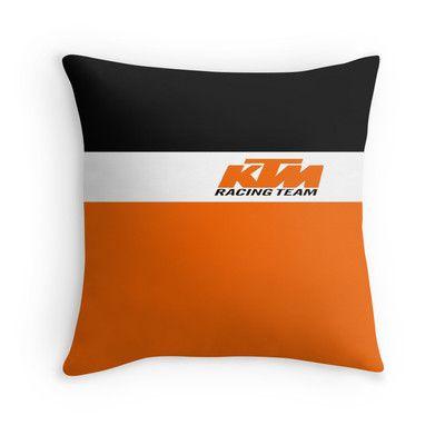 ktm racing team throw pillow | motocross throw pillow | pinterest