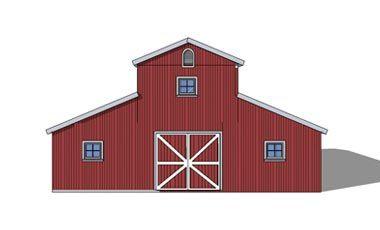 Monitor style barn kit horse barn plans barn building for Monitor barn house plans