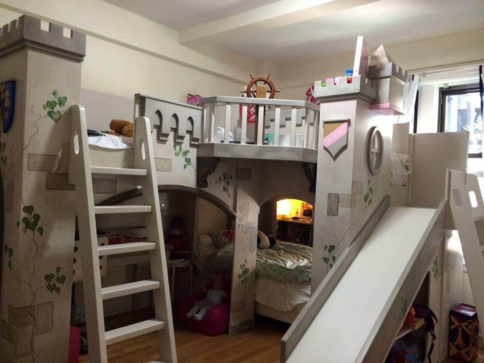 Best Devreeze Castle Bunk Bed For 4 Beds Kids Bunk Beds 640 x 480