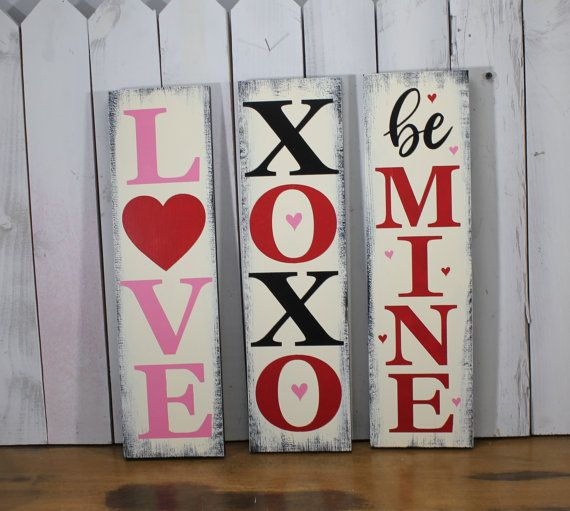 Valentine S Day Sign Sign Set Love Xoxo Be Mine Shelf Creative