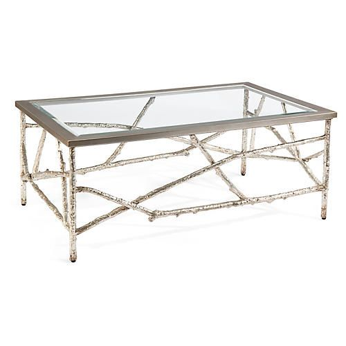 Branches Coffee Table Silver Silver Coffee Table