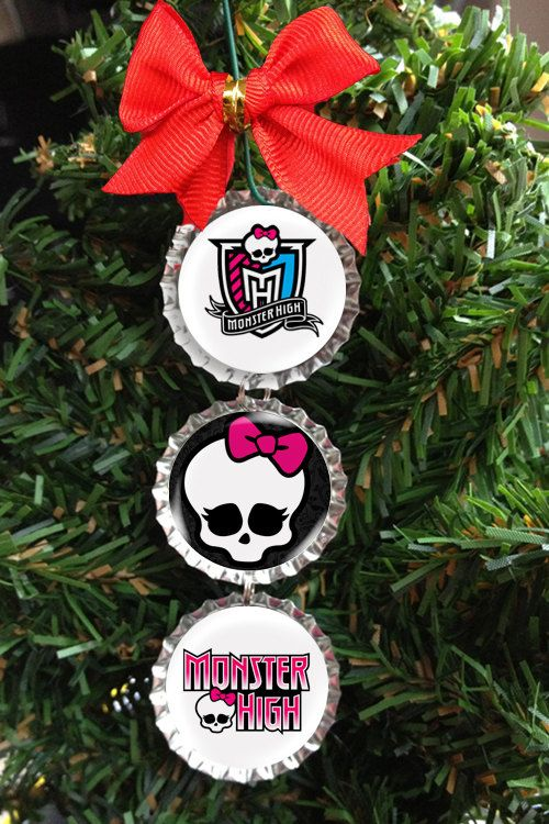 Monster High Christmas Tree Ornament Bottle by BeanTownStickers, $6.99 - Monster High Christmas Tree Ornament Bottle By BeanTownStickers