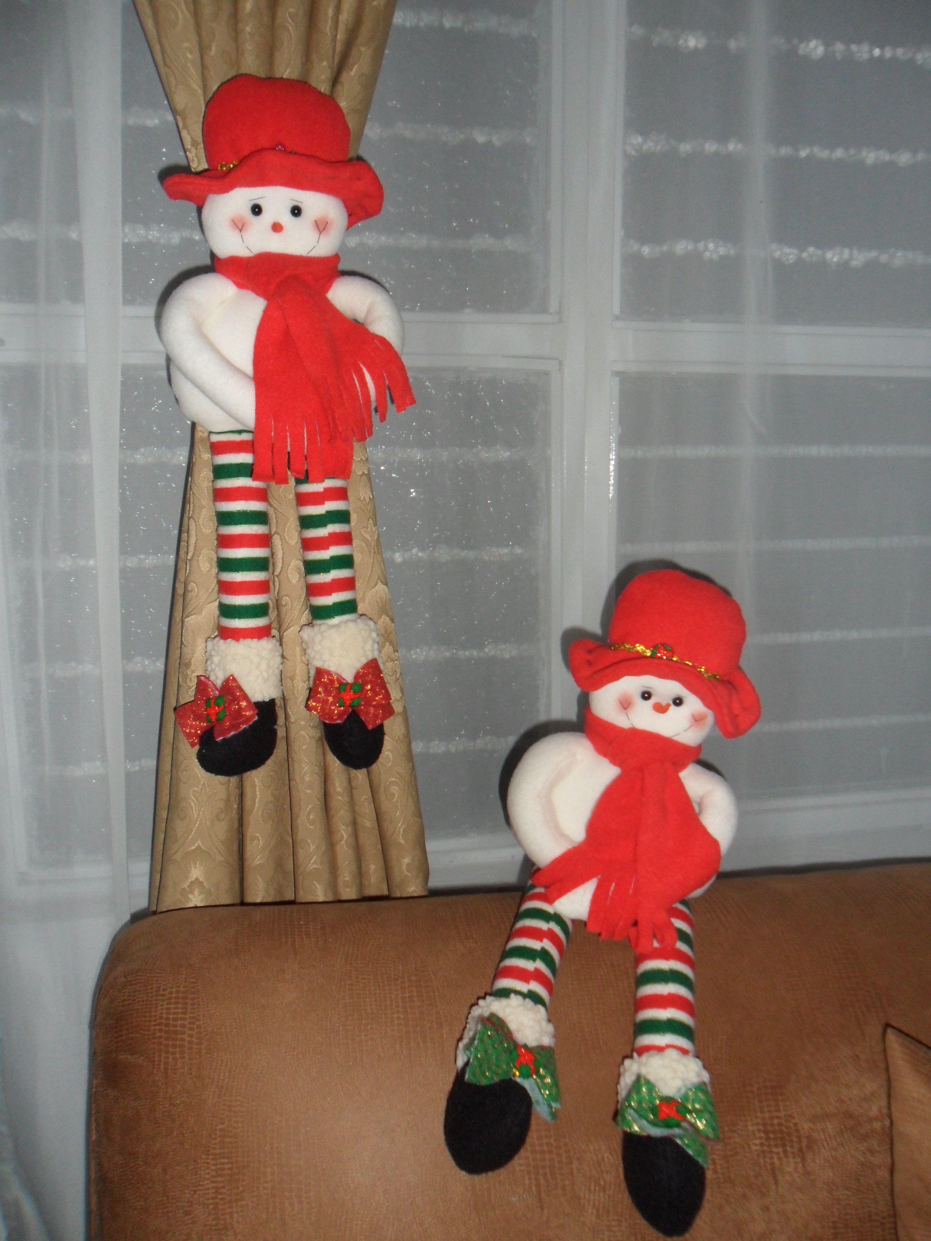 Mu ecos de nieve cortineros cortinas pinterest - Munecos de navidad ...