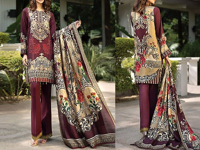 c87d4b9081 Embroidered Lawn Collection 2019 with Lawn Dupatta For more details and  real pictures visit: PakStyle.pk #lawnsuits #lawndresses #lawncollection ...
