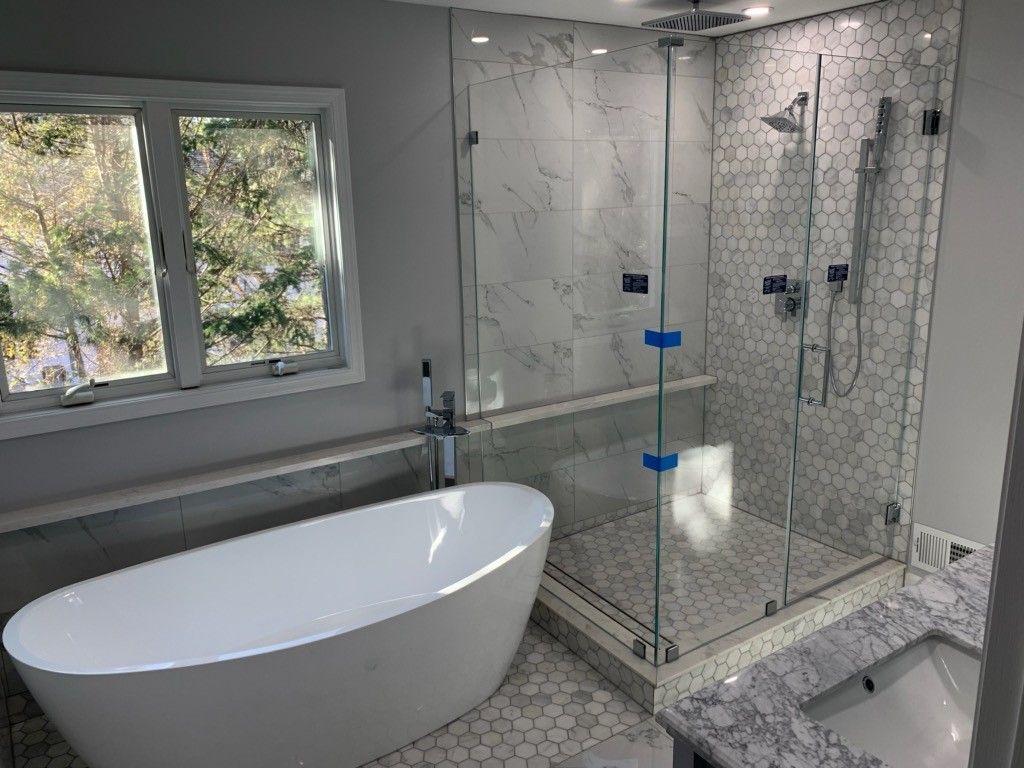 Corner Frameless In 2020 Frameless Shower Doors Glass Shower
