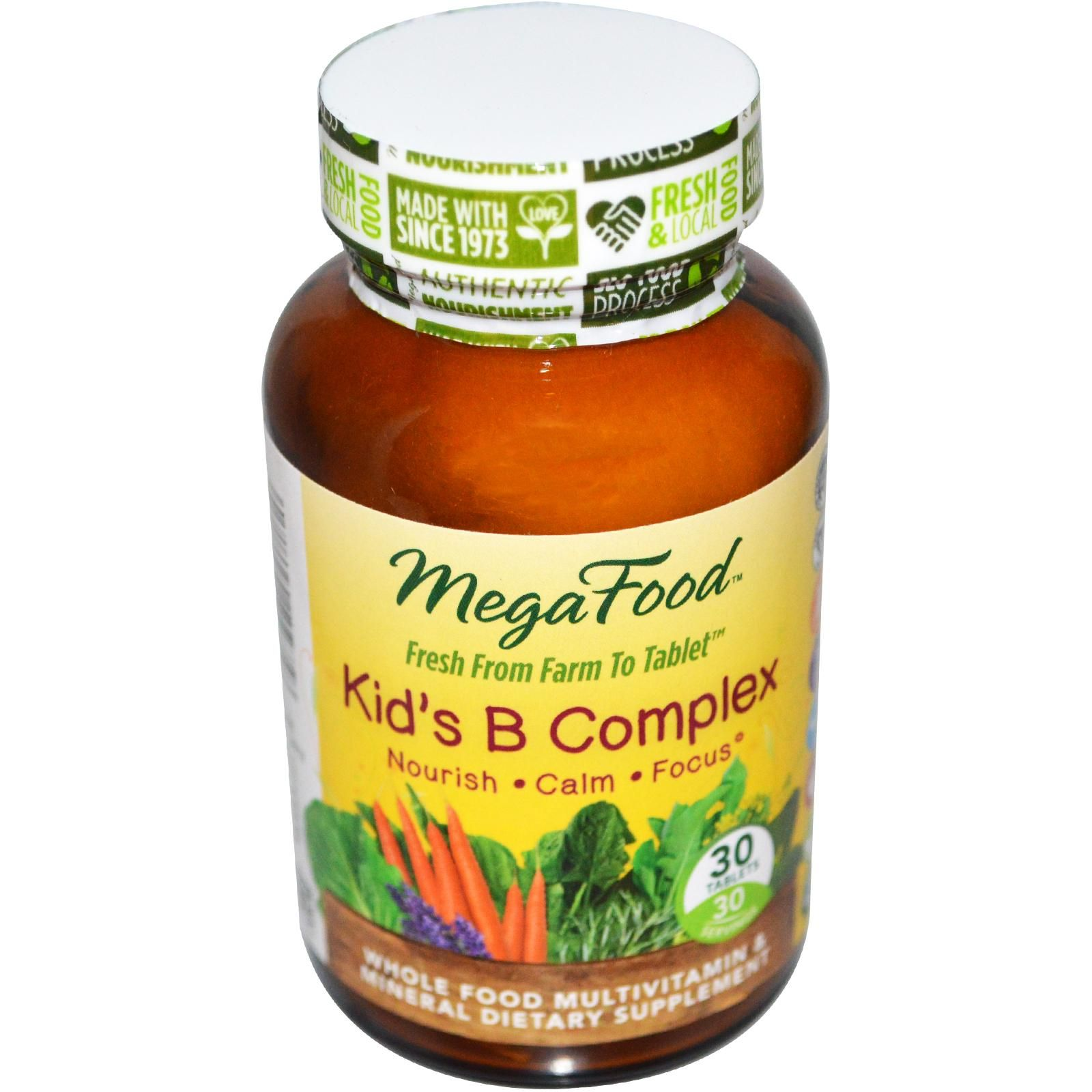 MegaFood, Kids B Complex, 30 Tablets Whole food