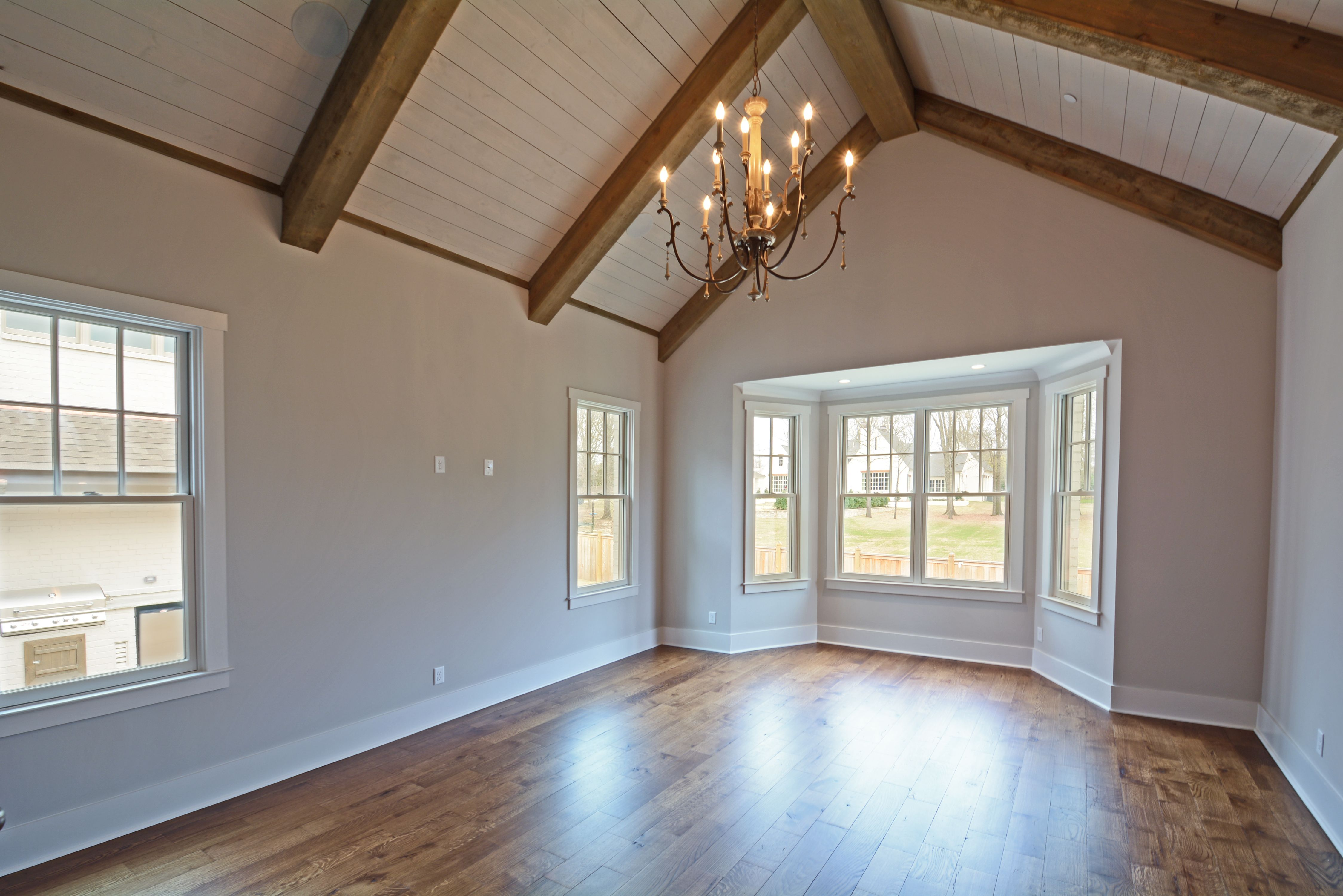 Check out that shiplap, vaulted ceiling! www.yourmagnoliahome.com ...