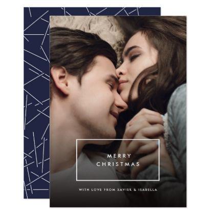 #Modern Simplistic Photo Christmas Card - #Xmascards #ChristmasEve Christmas Eve #Christmas #merry #xmas #family #holy #kids #gifts #holidays #Santa #cards