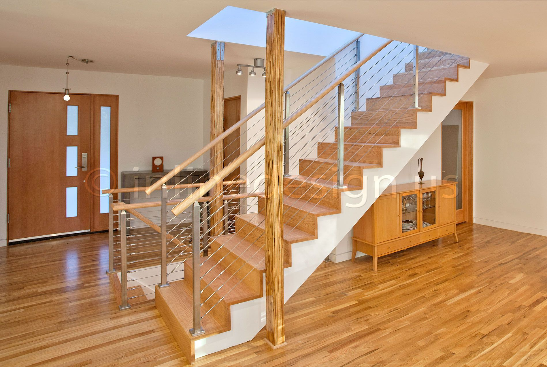 Modern Stainless Steel Railing Handrail Of Cable Glass